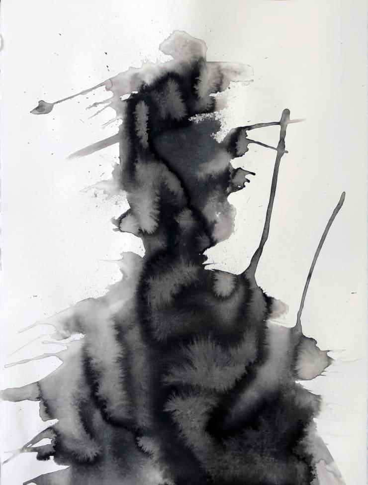 Emil Alzamora Turbulence Series No. 10, 2019 Ink on paper 76 x 57 cm 22.5 x 30 in