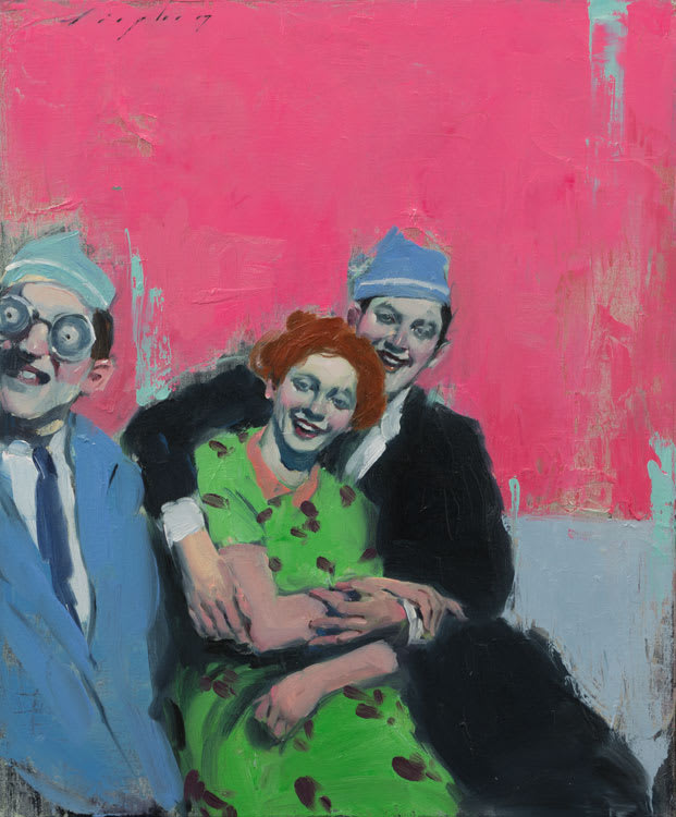 Malcolm Liepke Party Hats, 2017 Oil on canvas 56 x 46 cm 22 x 18 in