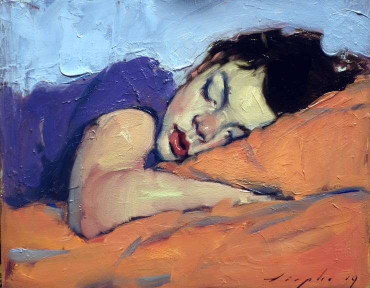 Malcolm Liepke Little Boy (Napping), 2019 Oil on canvas 20.3 x 25.4 cm 8 x 10 in