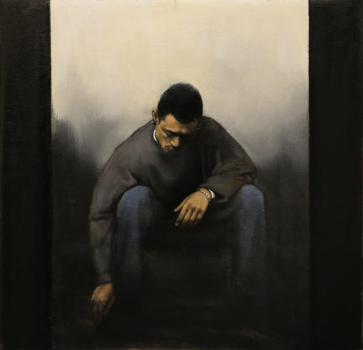 Christopher Thompson Seated Figure, 2020 Oil on canvas 40 x 40 cm 15.8 x 15.8 in