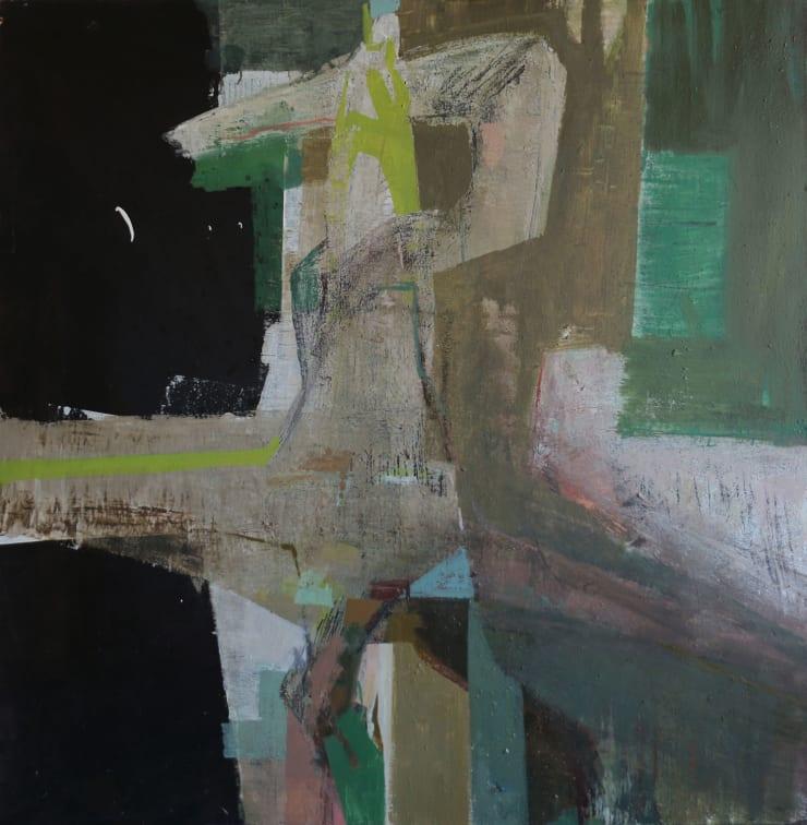 Davina Jackson Icarus Falling, 2019 Oil on canvas 92 x 92 cm 36.3 x 36.3 in