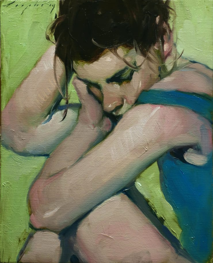 Malcolm Liepke Looking Inward, 2019 Oil on canvas 25.4 x 20.3 cm 10 x 8 in
