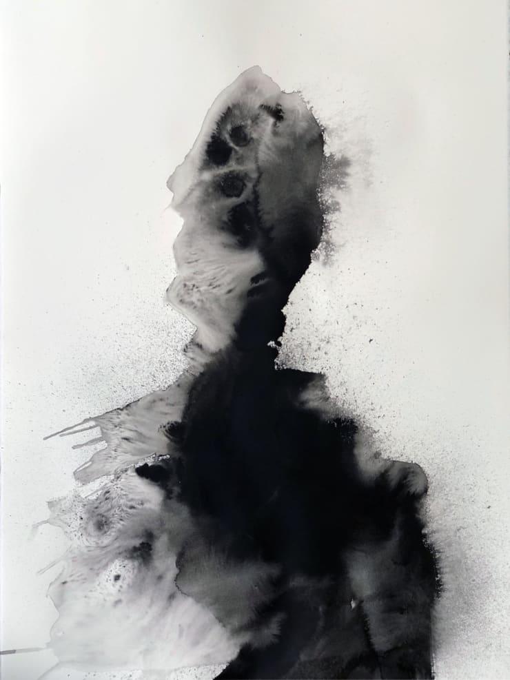 Emil Alzamora Turbulence Series No. 9, 2019 Ink on paper 76 x 57 cm 22.5 x 30 in