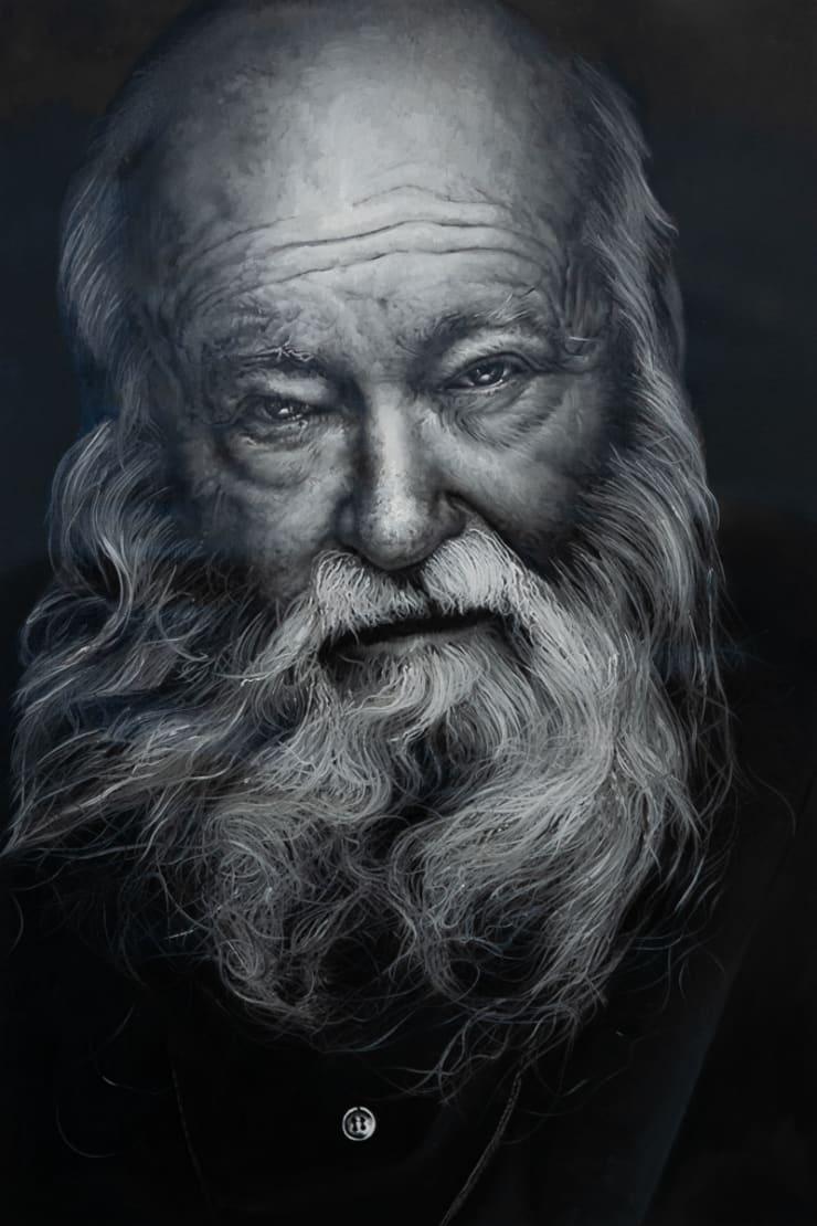 Yigal Ozeri Untitled; Hermann Nitsch, 2019 Oil on canvas 76.2 x 50.8 cm 30 x 20 in