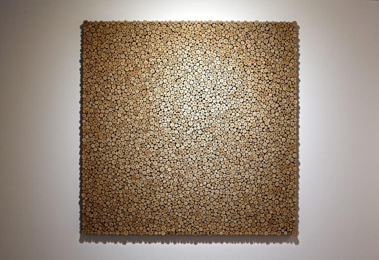 Lee Jaehyo 0121-1110=116099, 2016 Wood (Larch) 111 x 111 x 5 cm 44 x 44 x 2 in