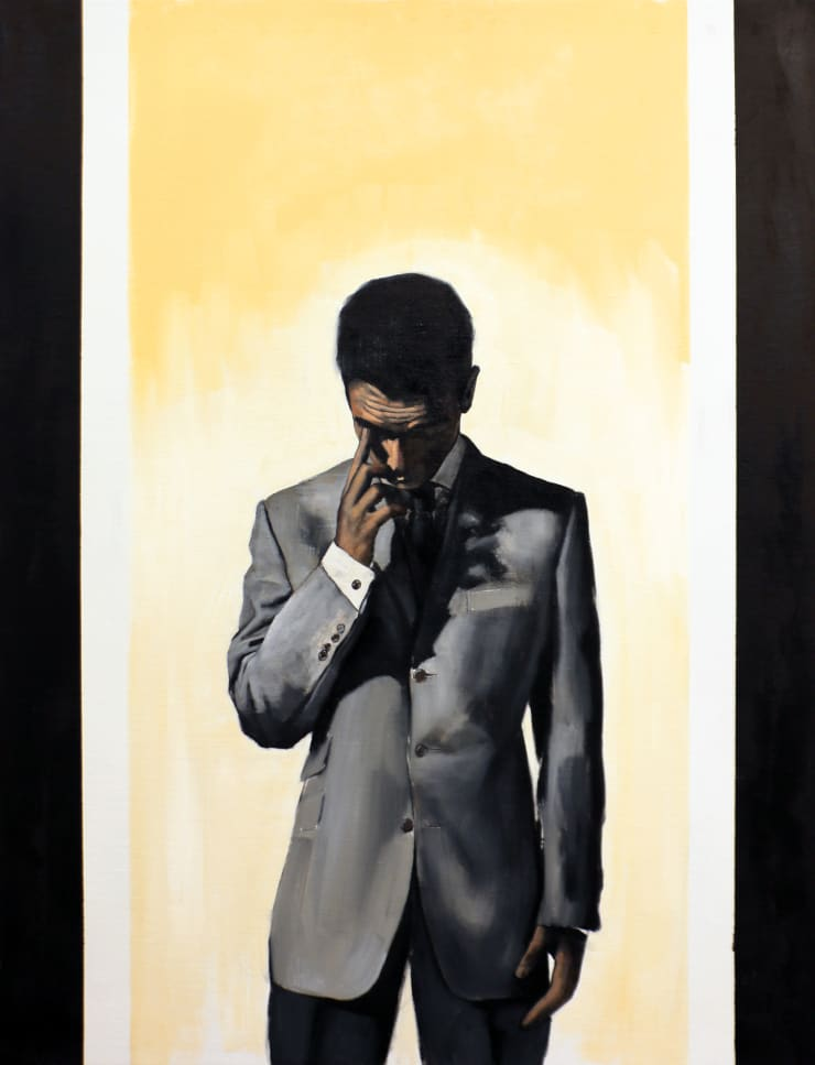 Christopher Thompson Waiting, 2020 Oil on canvas 122 x 91 cm 48 x 35.8 in