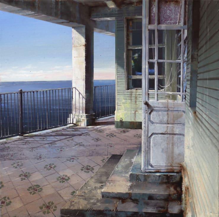 Matteo Massagrande La casa verde, 2019 Oil and mixed media on board 30 x 30 cm 11.8 x 11.8 in