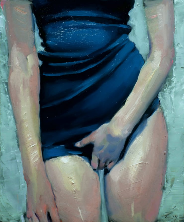 Malcolm Liepke Grasping (Desire), 2019 Oil on canvas 30.5 x 25.4 cm 12 x 10 in