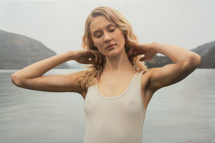 Yigal Ozeri Untitled; Annika, 2019 Oil on canvas 51 x 72 cm 20 x 30 in