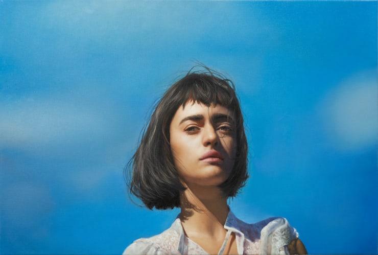 Yigal Ozeri Untitled; Olya, 2019 Oil on canvas 50.8 x 76.2 cm 20 x 30 in