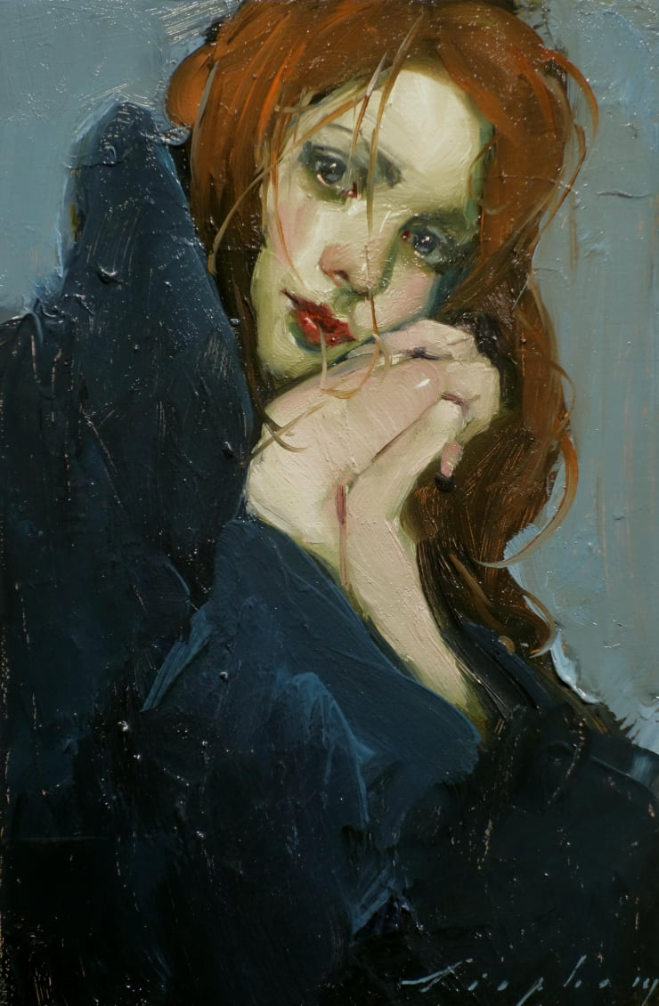 Malcolm Liepke Clasped Hands, 2019 Oil on canvas 30.5 x 20.3 cm 12 x 8 in
