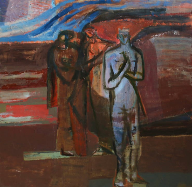 Davina Jackson The Judgement II, 2019 Oil on board 50 x 50 cm 19.7 x 19.7 in