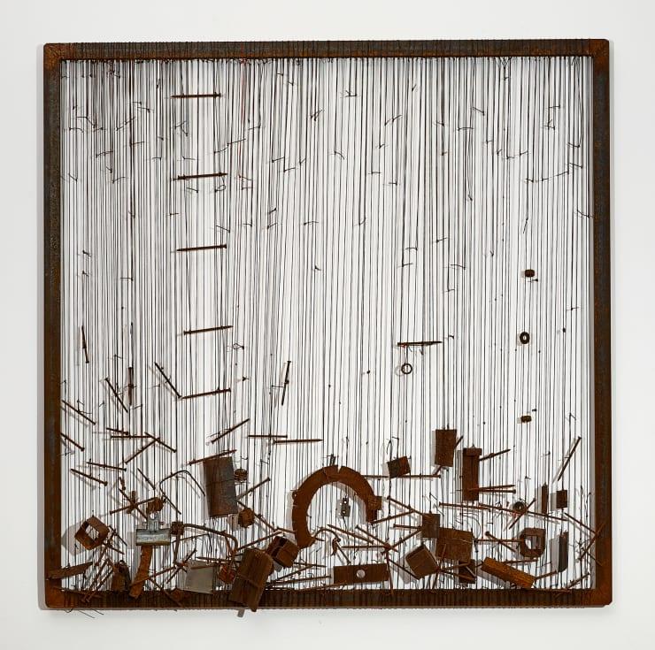 Verónica Vázquez, De la serie tapices con metales, 2016