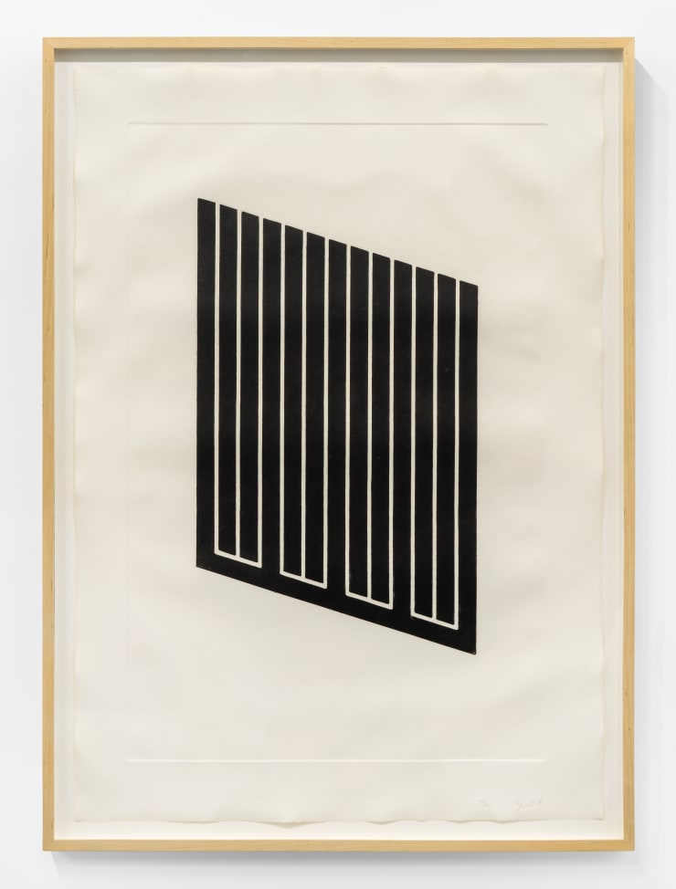 Donald Judd Untitled, 1974 aquatint on etching paper Paper Dimensions: 42 1/8 x 29 1/2 in. / 107 x 75 cm Frame Dimensions: 45 x 32 3/4 in. / 114.3 x 83.1 cm Edition of 70 plus 6 AP