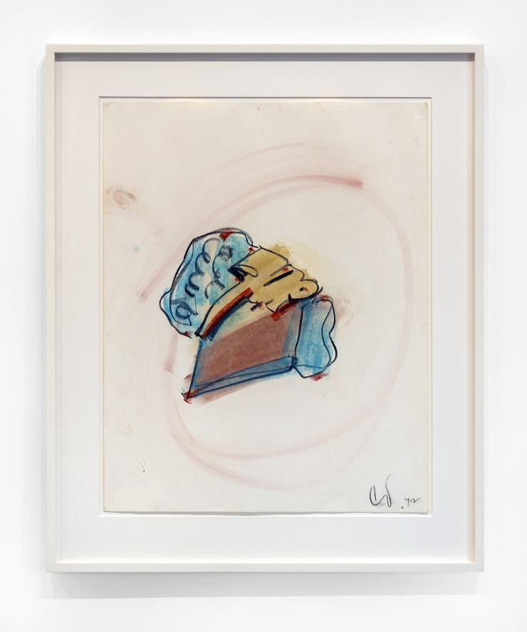 Claes Oldenburg 7-Up Pie, 1972 pastel on paper, framed white wood molding Frame Dimensions: 37 x 30.5 in. / 94 x 77.47 cm Image Dimensions: 28 x 22 1/2 in. / 71 x 57.15 cm