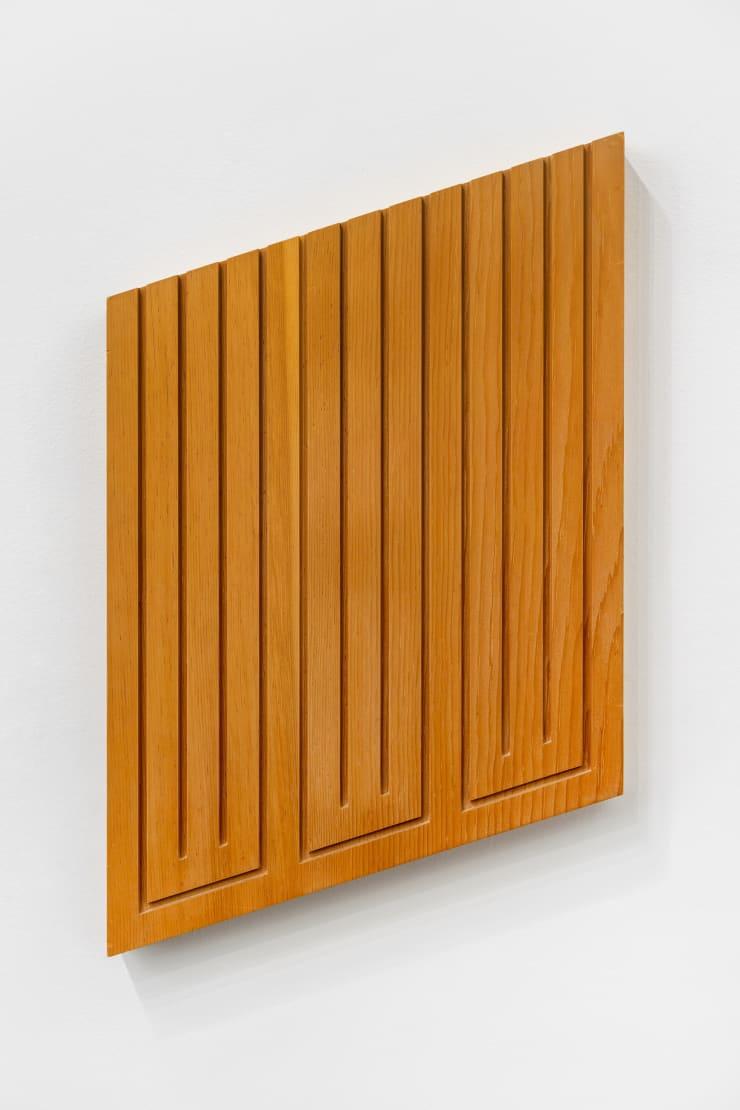 Donald Judd Untitled (11-R), 1982 wood block in clear sugar pine 25 x 16 x 2 in. / 63.5 x 40.6 x 5.1 cm