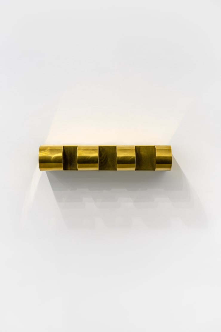 Donald Judd Bullnose Progression (Brass) , 1975 Brass 5 x 25 1/2 x 8 1/4 in. / 12.7 x 64.8 x 21 cm