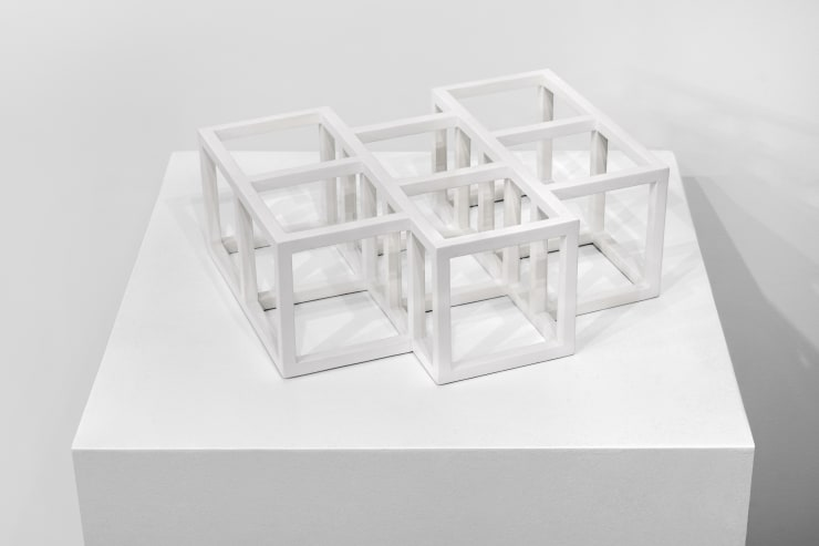 Sol LeWitt Untitled (Structure), 1995 painted wood, white 5 x 12 3/8 x 14 3/4 in. / 12.7 x 31.4 x 37.5 cm