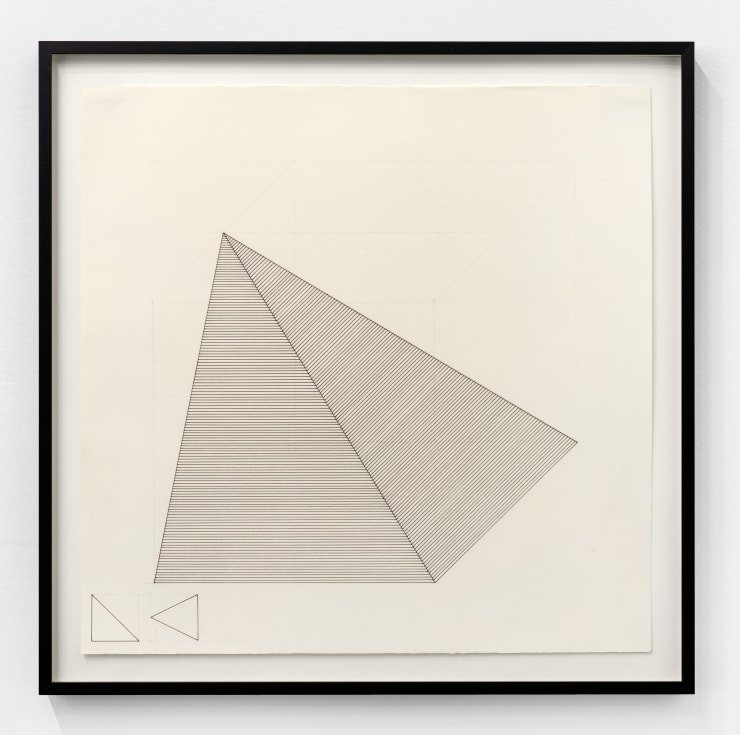 Sol Lewitt Isometric Drawing, 1981 ink on paper Paper Dimensions: 19 x 19 in. / 48.2 x 48.2 cm Frame Dimensions: 21 7/8 x 21 7/8 x 1 1/4 in. / 55.6 x 55.6 x 3.2 cm