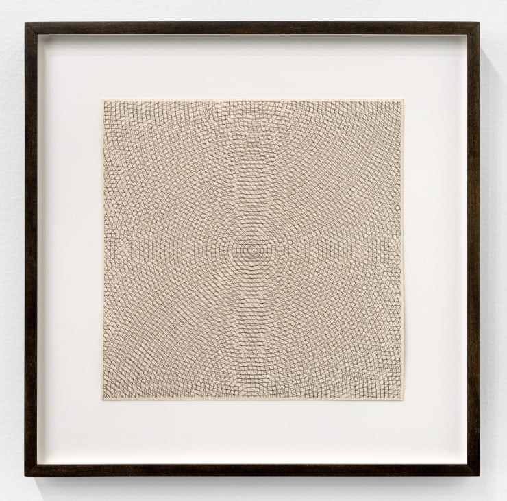 Sol Lewitt Circles, Arcs from Opposite Corners and Opposite Sides, 1971 ink and graphite on paper Image Dimensions: 9 x 9 in. / 22.9 x 22.9 cm Frame Dimensions: 13 1/2 x 13 1/2 in. / 34.3 x 34.3 cm