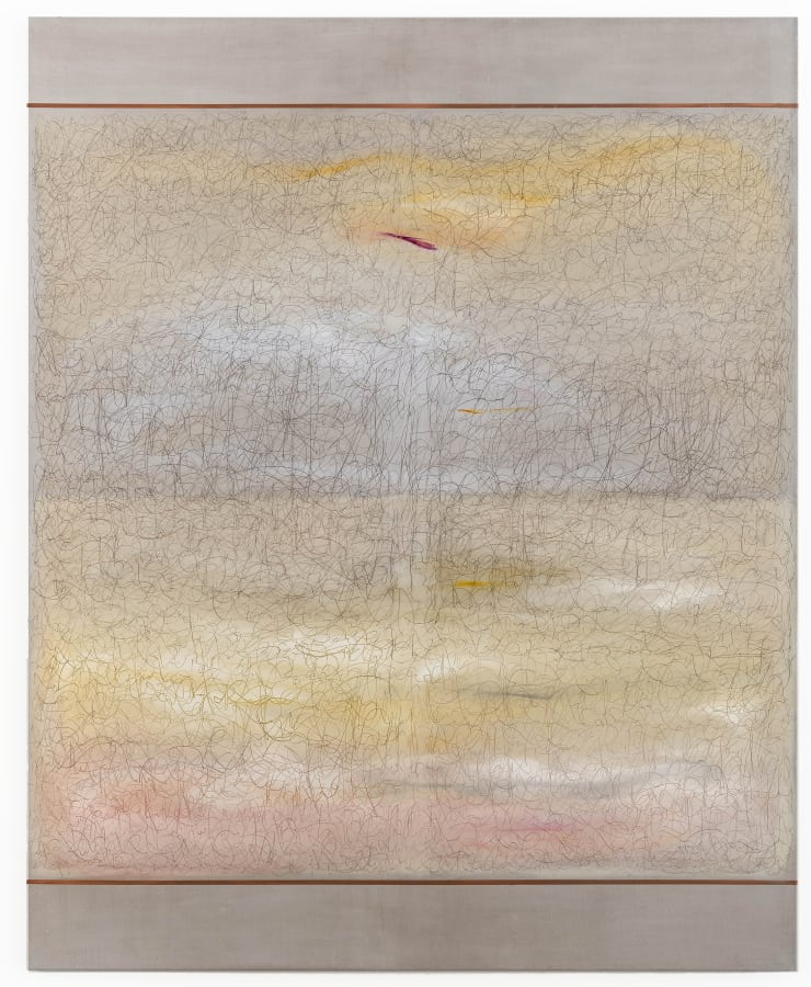 Richard Höglund Sea Picture, CLXII, 2018 Gold, silver, copper, lead, various pigments and oils, bone pullover, marble dust and acrylic emulsions on linen. 226 x 183 cm 89 x 72 1/8 in