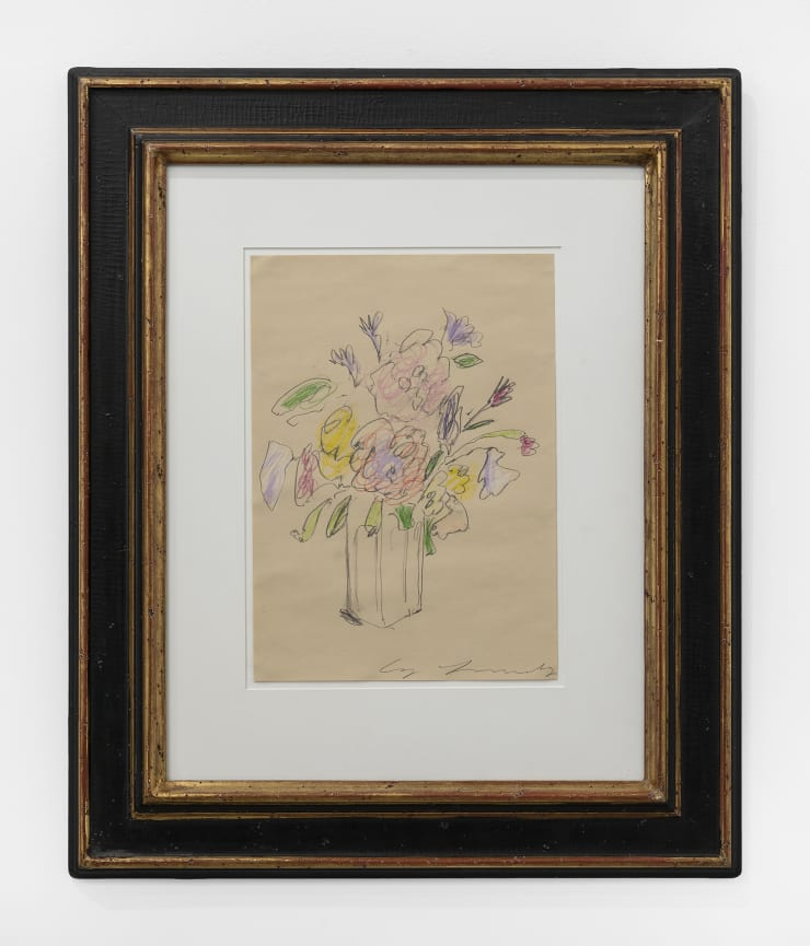 Cy Twombly Untitled (Birthday Flowers), 1970 graphite and crayon on paper, framed Framed Dimensions: 25 1/2 x 21 in. / 64.8 x 53 cm Image Dimensions: 13.5 x 9.5 in. / 34.3 x 24 cm