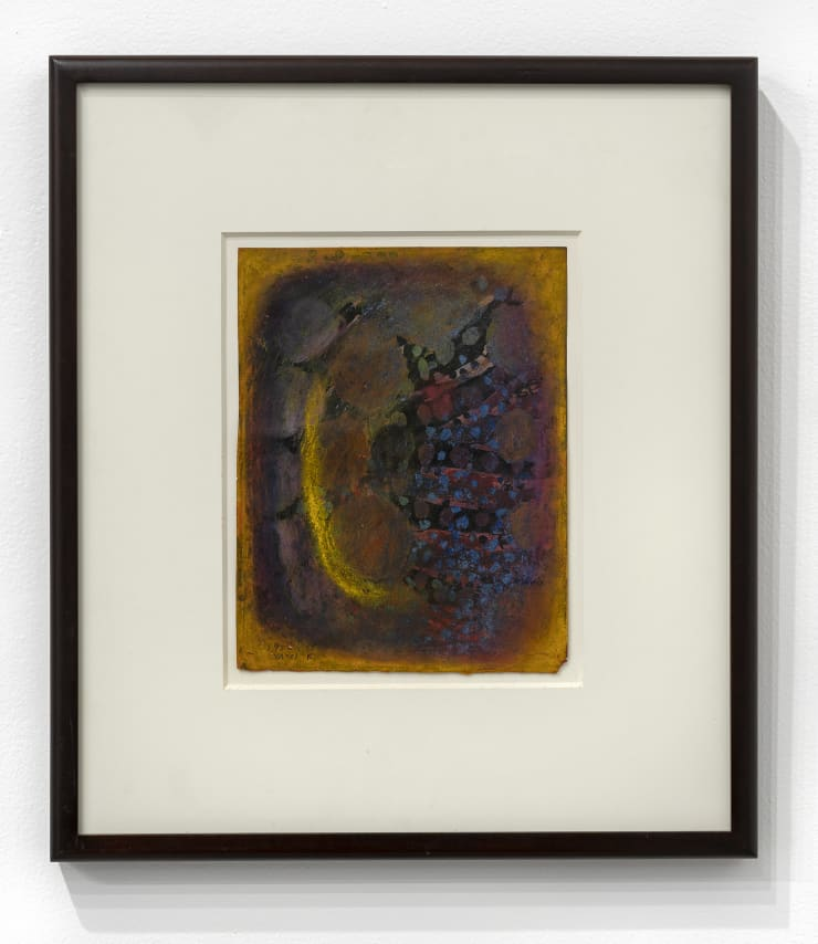 Yayoi Kusama A Flower, 1952 Gouache and pastel on paper. Framed 20 1/2 x 18 1/16 x 1 1/2 in.