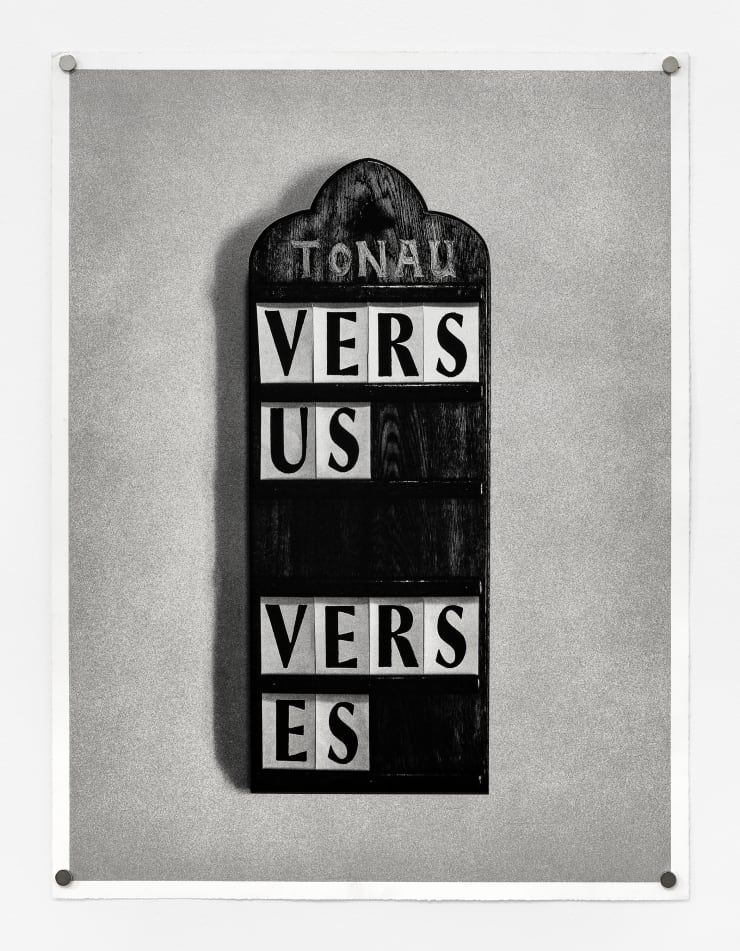 Fiona Banner Vs., 2013 double-sided lithograph 23 1/2 x 18 in. / 59.7 x 45.7 cm