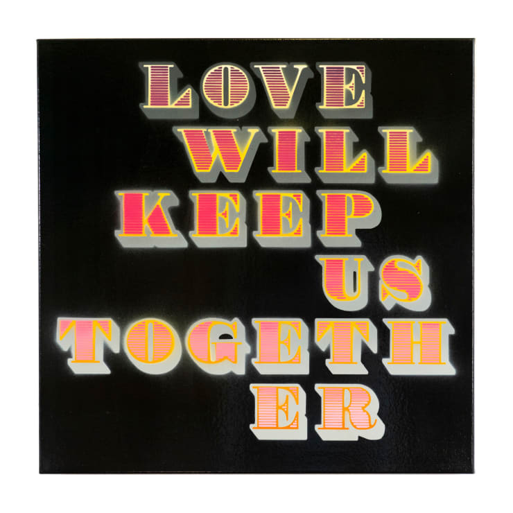 Ben Eine, Love Will Keep Us Together, 2018