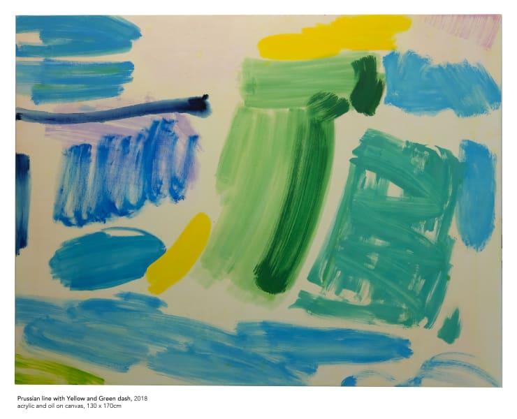 Tim Braden, Prussian, yellow and green dash, 2018