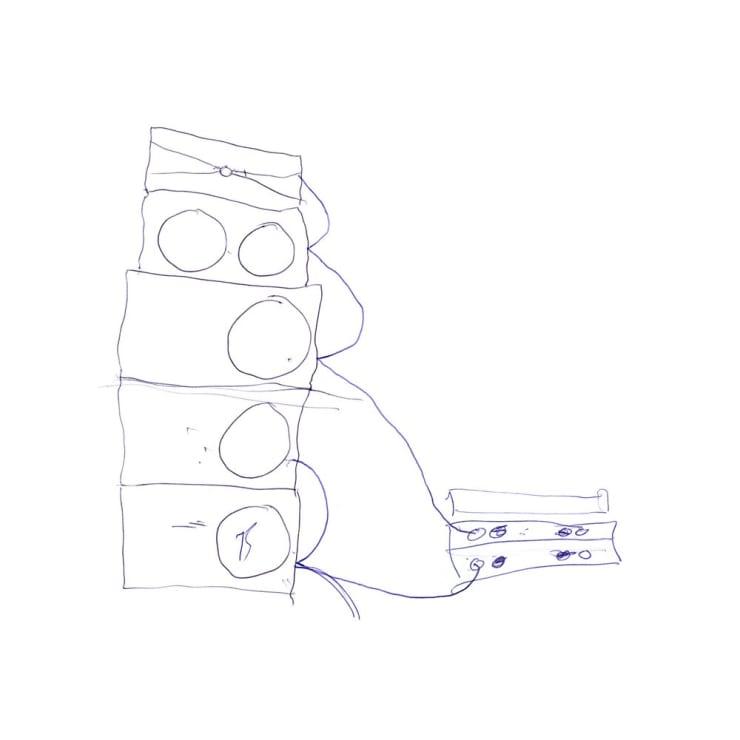 Matt Stokes, Real Arcadia (Sound-system drawing), 2008
