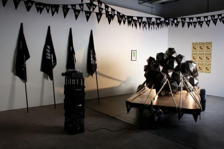"Matt Stokes, ""Voice|Hand|Hammer|Fire"" - Matt Stokes, Workplace Gallery, 2010"