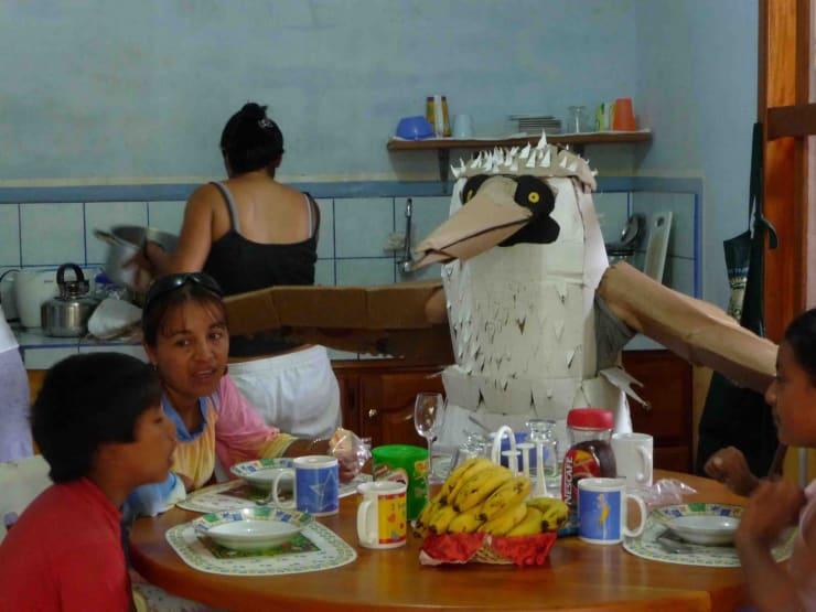 Marcus Coates, Human Report, Galapagos Family #2, 2008