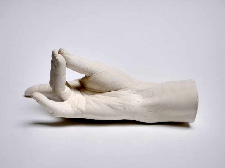Marcus Coates Extinct Animals (Auroch), 2018 Plaster of Paris, cast from the artist's hands whilst performing the extinct animal's shadow 12 x 26 x 11 cm 4 3/4 x 10 1/4 x 4 3/8 in