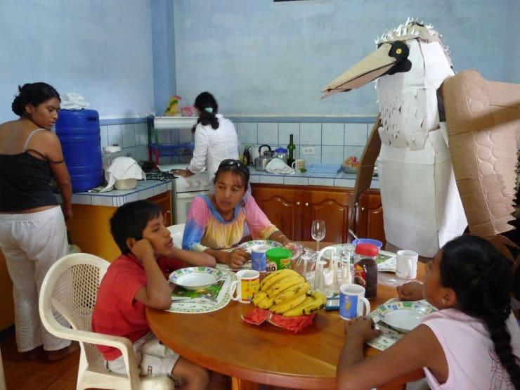 Marcus Coates, Human Report, Galapagos Family #1, 2008