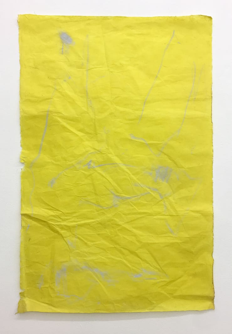 Nicola Singh, out of a set of materials within her reach (Yellow #1), 2018