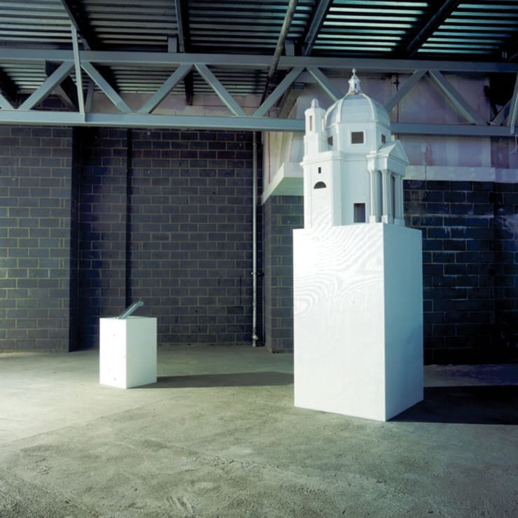 Cath Campbell, Church and Escalator, Installation View, 2005