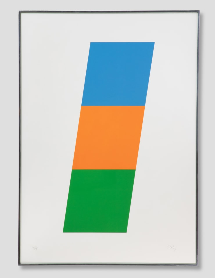 Ellsworth Kelly, Blue/Red-Orange/Green, 1970-1971