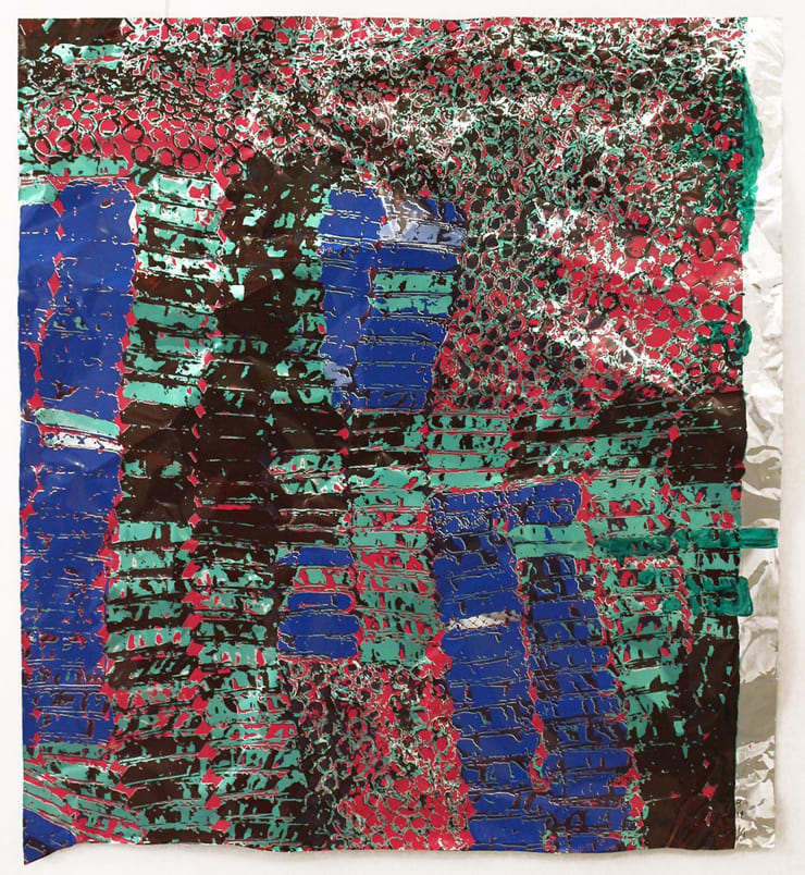 El Anatsui, Untitled (with Green), 2015