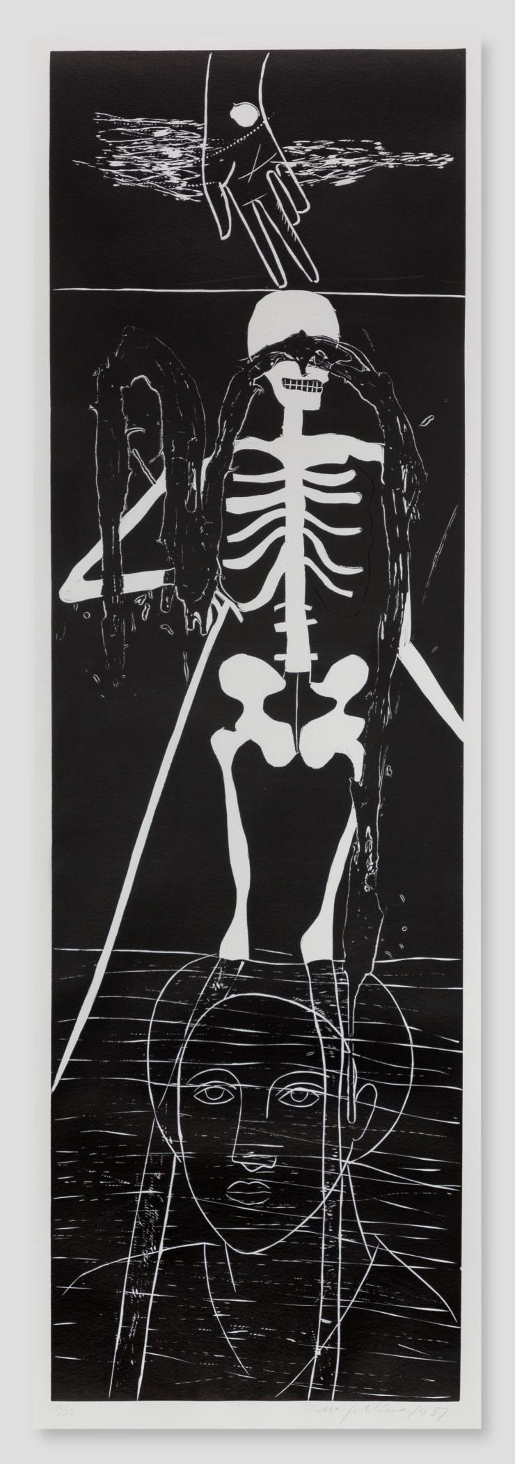 Mimmo Paladino, Atlantico VI (Skeleton), 1987