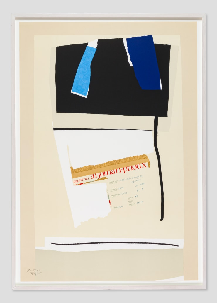 Robert Motherwell, America - La France Variations VI , 1984