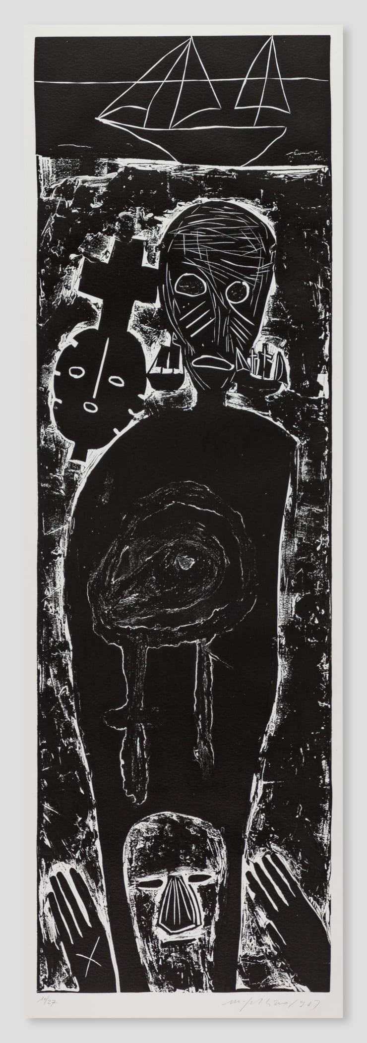 Mimmo Paladino, Atlantico IV (Large Figure with Mask), 1987