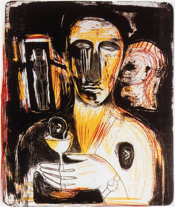 Mimmo Paladino, Come in uno Specchio , 1989