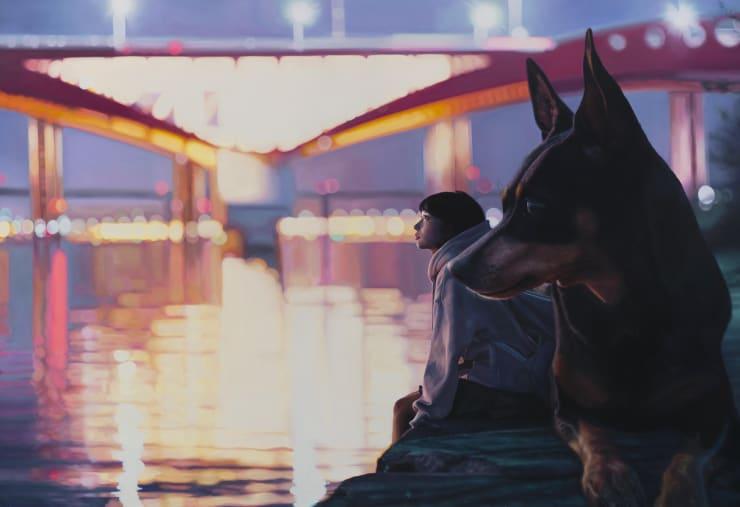 Jeong Woojae Dear Blue - Keeper, 2019 Oil on canvas 112 x 162 cm 44.1 x 63.8 in