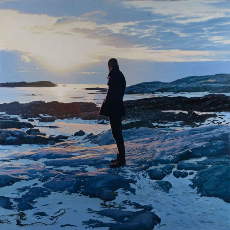 Iain Faulkner Sanna Sands, Ardnamurchan, 2018 Oil on canvas 152.4 x 152.4 cm 60 x 60 in