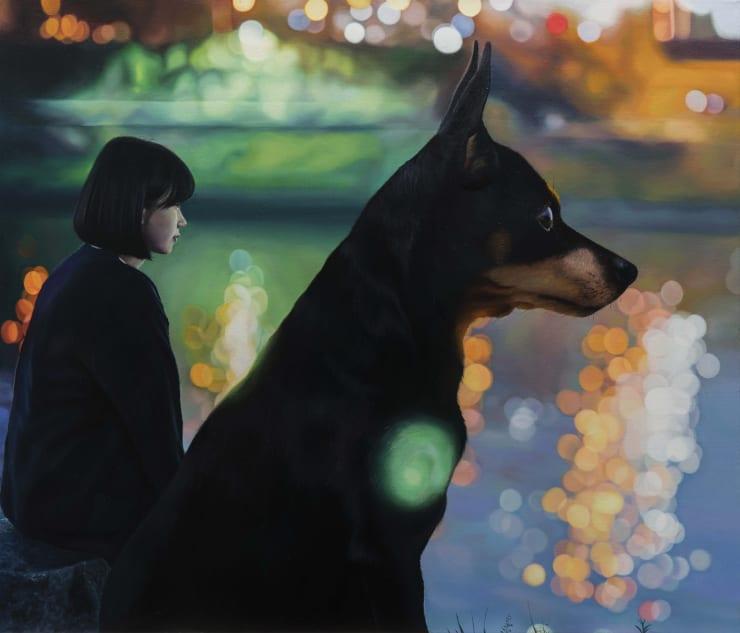 Jeong Woojae Dear Blue - Refuge, 2019 Oil on canvas 45.5 x 53 cm 17.9 x 20.9 in