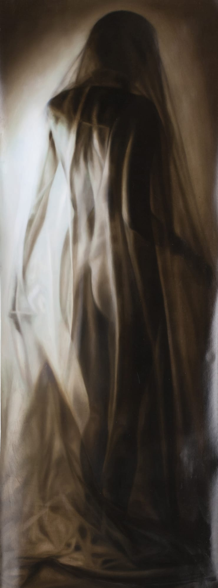 Elisa Rossi Comparse, 2017 Oil on paper 200 x 75 cm 78.7 x 29.5 in