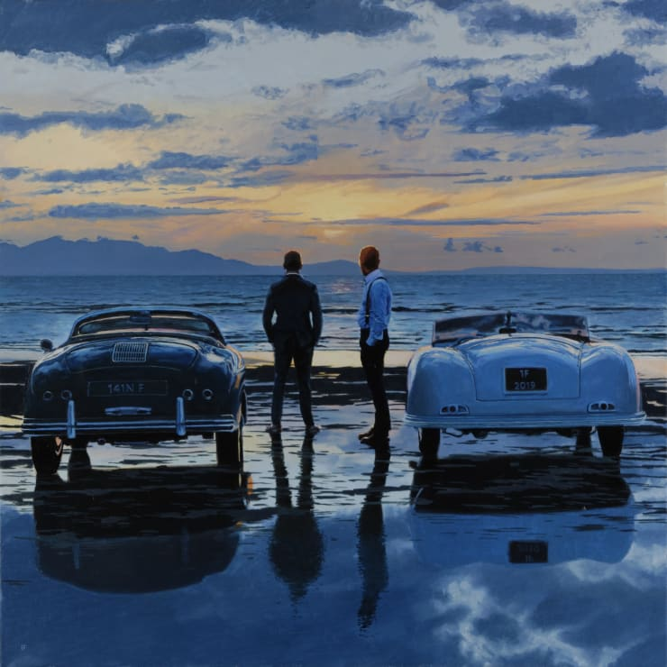 Iain Faulkner Rendezvous, Early Evening, 2019 Oil on canvas 91 x 91 cm 36 x 36 in