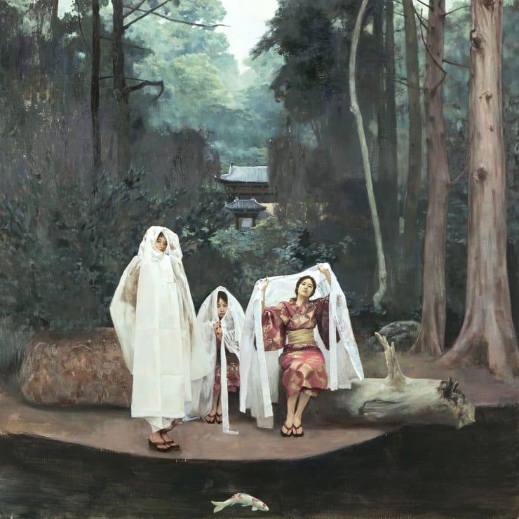 Lee Jeongwoong Secret Garden, 2018 Oil on Canvas 100 x 100 cm 39.5 x 39.5 in