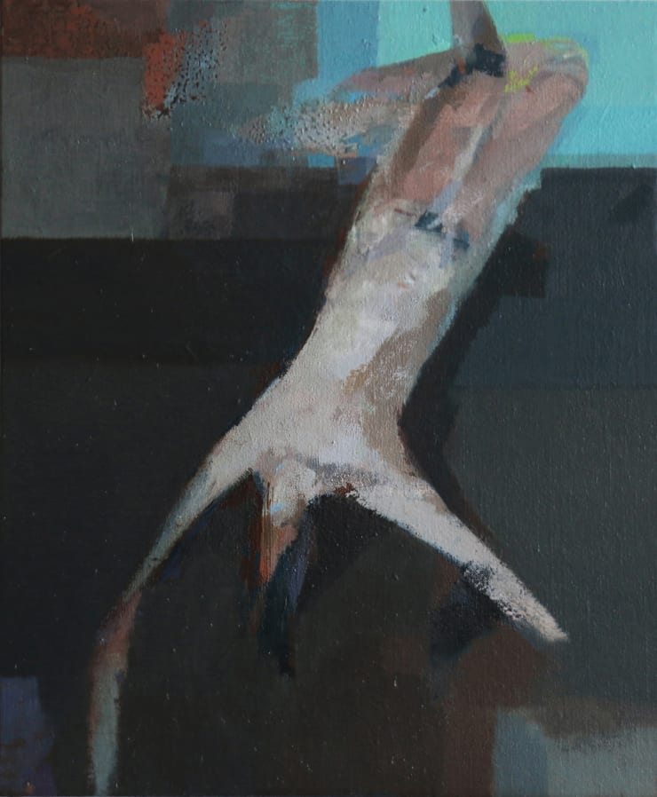 Davina Jackson Falling Man / Fallen Man, 2019 Oil on canvas 30 x 26 cm 11.7 x 10.3 in
